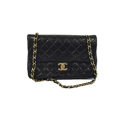chanel-235-classic-flap-bag-inblack-withgold-hardware-2