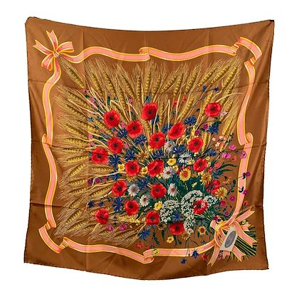 gucci-vintage-1970-tan-silk-scarf-accornero-spighe-wheat-ears