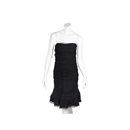 black-oscar-de-la-renta-2009-silk-strapless-dress