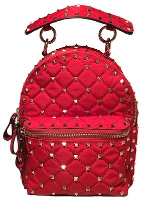 nwot-valentino-red-nylon-mini-rockstud-backpack
