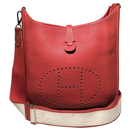 hermes-coral-orange-togo-leather-evelyn-iii-pm-29cm-shoulder-bag