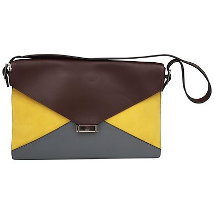 celine-diamonds-yellow-suede-and-brown-leather-handbag-with-shoulder-strap