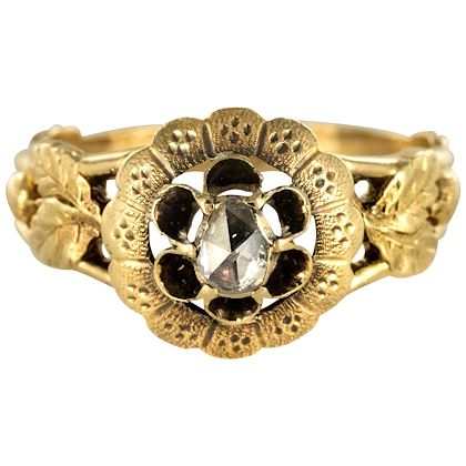 french-19th-century-rose-cut-diamond-solitary-ring
