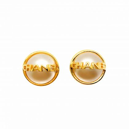 vintage-chanel-earrings-gold-chanel-lettering-faux-pearl-1995