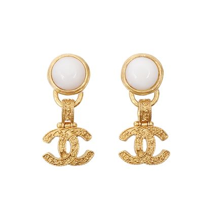 chanel-round-stone-cc-mark-swing-earrings-white
