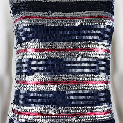 lanvin-3500-sequin-stripe-dress-red-navy-silver-sparkle-sleeveless-size-s-pre-owned-used
