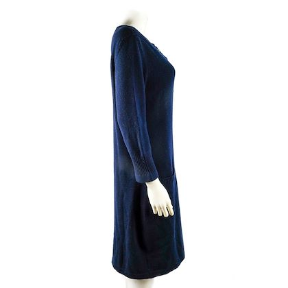 chanel-turnlock-cc-cashmere-sweater-dress-navy-blue-2-pocket-us-12-44-pre-owned-used