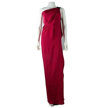roland-mouret-dress-pink-long-strapless-silk-us-2-pre-owned-used
