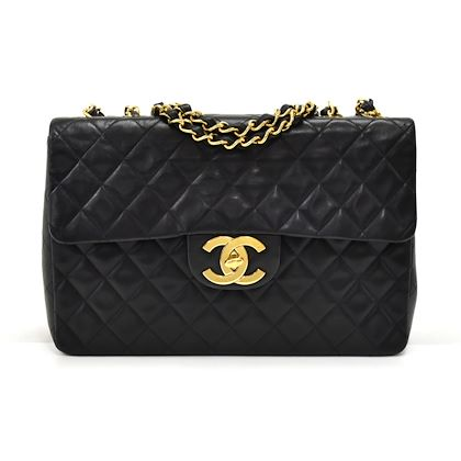 vintage-chanel-13-maxi-jumbo-black-quilted-lambskin-leather-classic-flap-bag