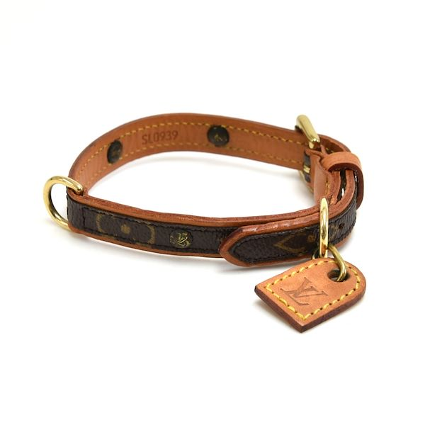 5dfe7ecd Vintage Louis Vuitton Laisse MM + Collier Baxter PM Monogram Canvas Dog  Leash