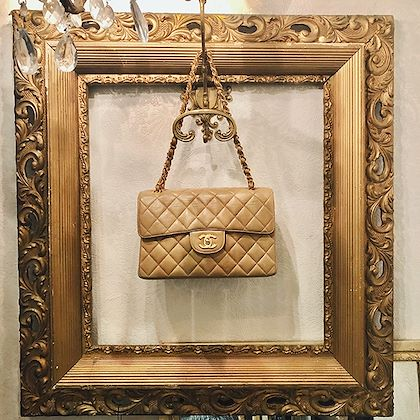 chanel-double-face-classic-flap-chain-bag-23cm-beige