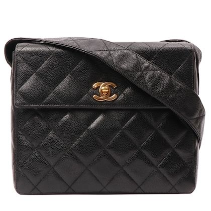 chanel-caviar-skin-cc-mark-turn-lock-plate-shoulder-bag-black