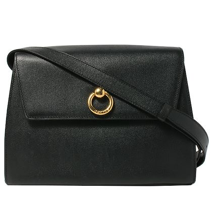 celine-ring-logo-plate-shoulder-bag-black