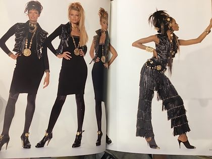 90s-versace-leather-suit-jacket-and-skirt-with-golden-studs