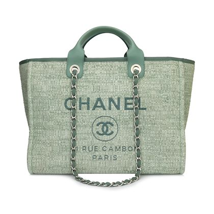 chanel-deauville-tote-large-green-canvas-silver-hardware-2018