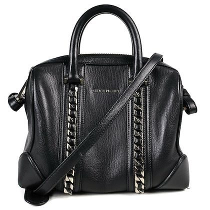 givenchy-antigona-chain-small-crossbody-shoulder-bag-black-leather-silver-pre-owned-used