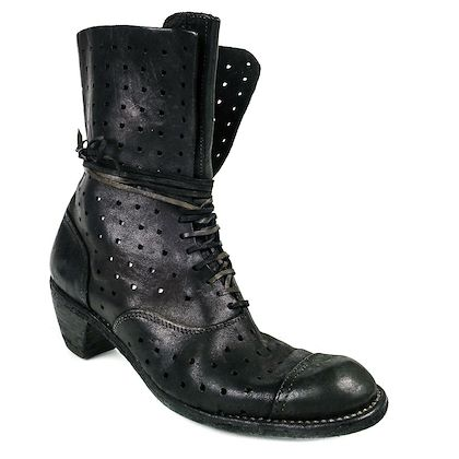 guidi-combat-boots-perforated-black-leather-lace-up-cuban-heels-us-95-395-pre-owned-used