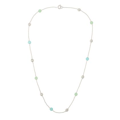 sterling-silver-and-dyed-jade-necklace