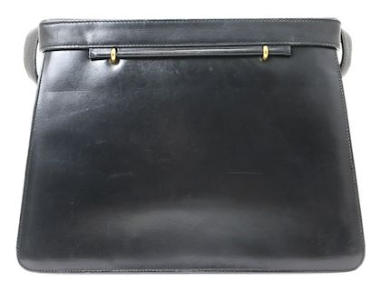 CELINE Big Circle Metal Leather Shoulder Bag