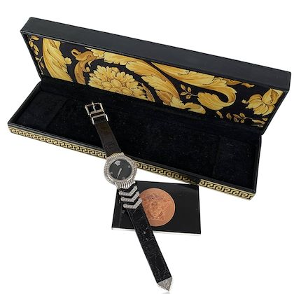 versace-vintage-white-gold-plated-medusa-watch-with-box