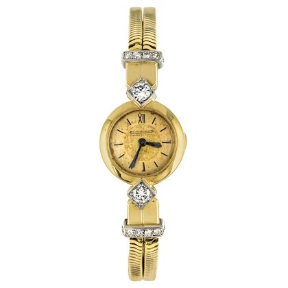 french-1950s-jaeger-le-coultre-diamonds-18-karat-yellow-gold-women-watch