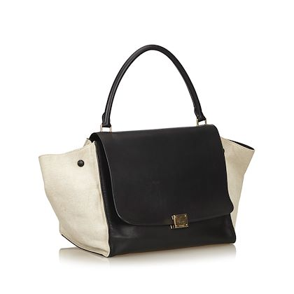 black-and-white-celine-trapeze-leather-bag
