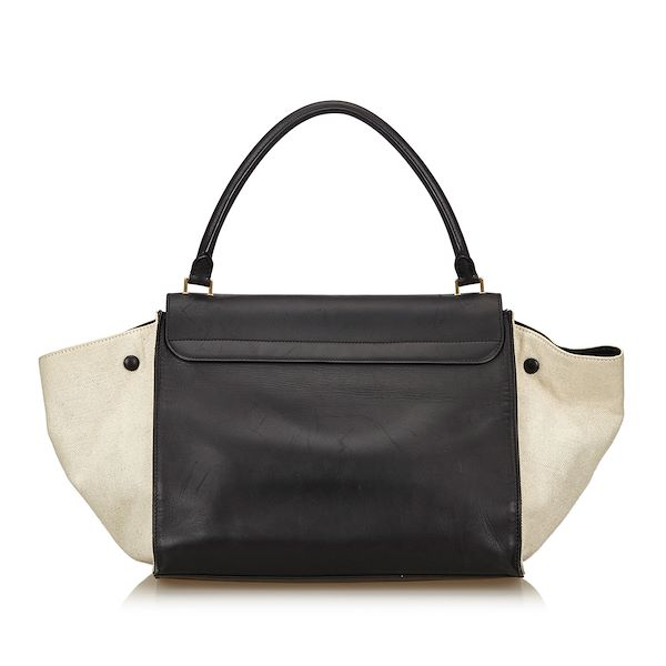 Black And White Celine Tze Leather Bag