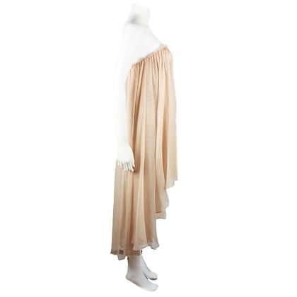 alexander-mcqueen-dress-nude-fit-and-flare-ruffled-us-0-2-pre-owned-used