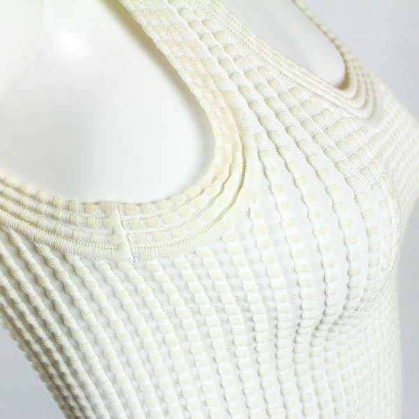 alaia-white-bandage-fit-flare-dress-us-xs-40-pre-owned-used