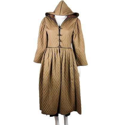 ysl-vintage-tan-hooded-long-quilted-jacket-us-s-fr-36-small-pre-owned-used