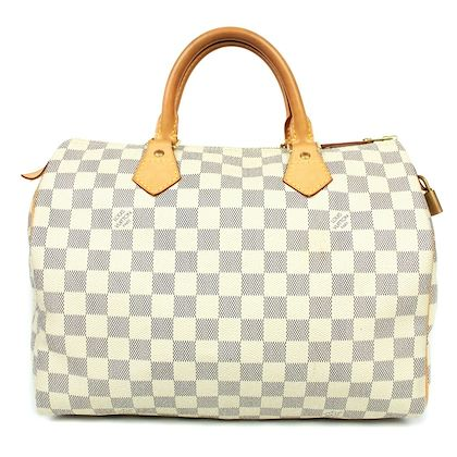 louis-vuitton-speedy-30-white-damier-satchel-bag-with-lock-pre-owned-used