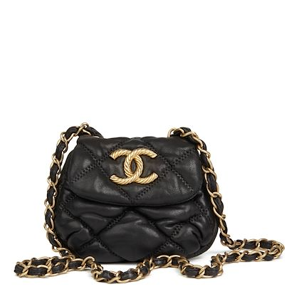 black-bubble-quilted-lambskin-micro-flap-bag