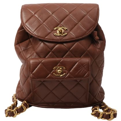 chanel-double-turn-lock-backpack-brown-2