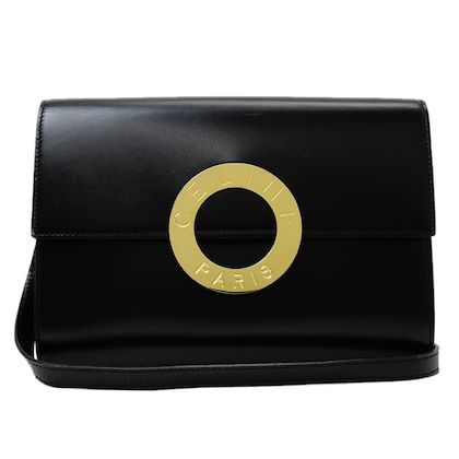 celine-big-logo-circle-metal-shoulder-bag
