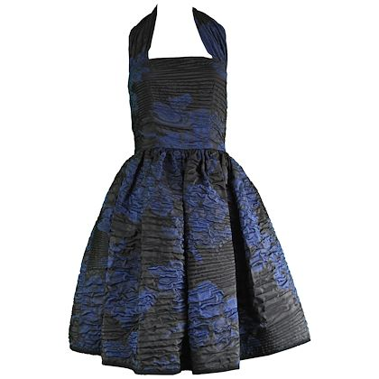Oscar De La Renta 2010 Textured Silk Party Dress
