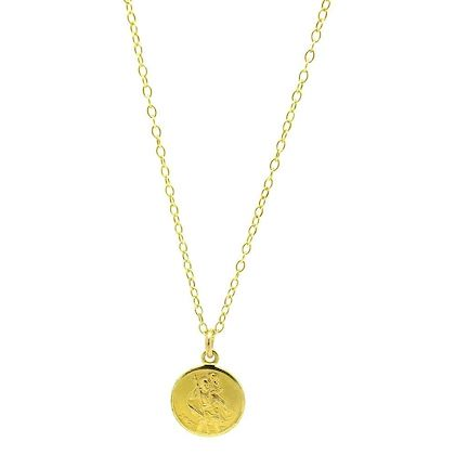 vintage-st-christopher-9ct-gold-charm-necklace