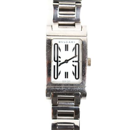 bvlgari-rettangolo-watch-stainless-steel-silver-square-womens-pre-owned-used