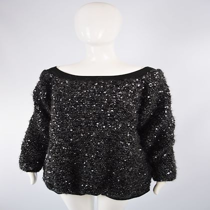 Gianfranco Ferre 1980s Mohair Blend Fuzzy Sweater