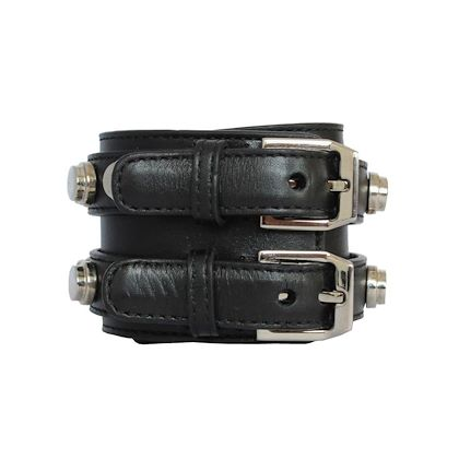 saint-laurent-leather-bracelet