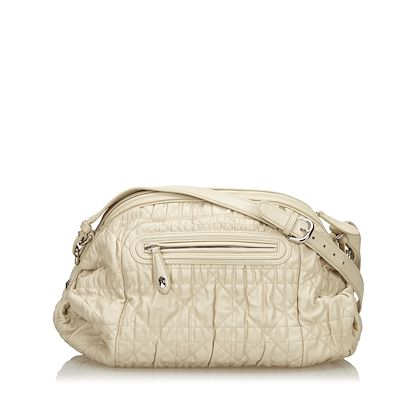 white-christian-dior-cannage-leather-shoulder-bag-2