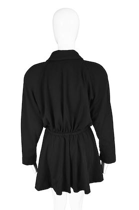 Donna Karan for Bergdorf Goodman 1980s Black Wool Jacket