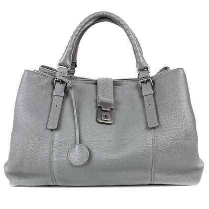 bottega-veneta-3450-large-grey-tote-bag-lock-quilted-leather-handbag-pre-owned-used