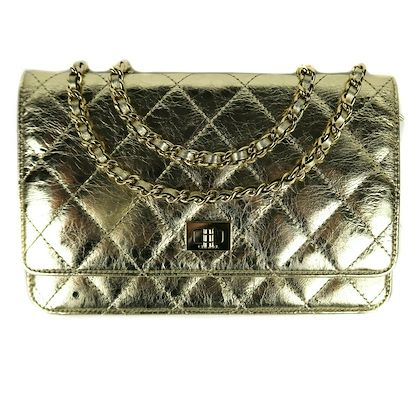 chanel-gold-reissue-flap-wallet-on-a-chain-metallic-leather-crossbody-strap-woc-pre-owned-used