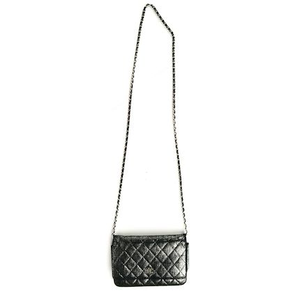 chanel-metallic-wallet-on-a-chain-crossbody-cc-bag-shoulder-silver-leather-woc-pre-owned-used