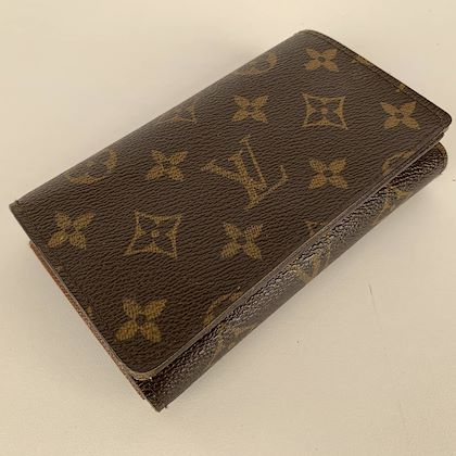 louis-vuitton-louis-vuitton-monogram-brown-folded-wallet-and-coin-purse-with-zipper