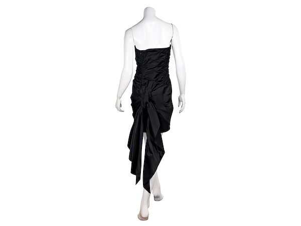black-vintage-1980s-bill-blass-silk-satin-mini-dress