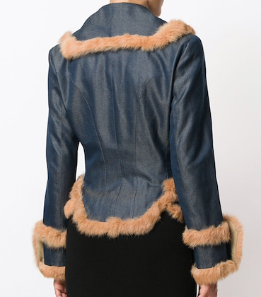 John Galliano Fur Denim Jacket
