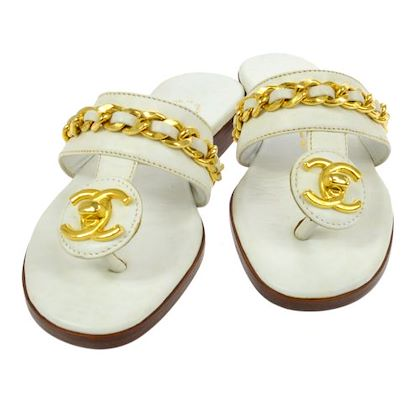 chanel-cc-turnlock-motif-shoes-sandals-white-leather