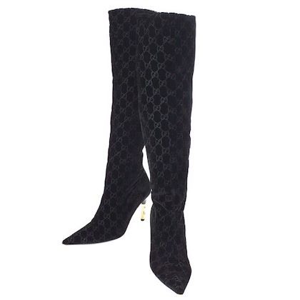 gucci-gg-pattern-long-boots-shoes-black