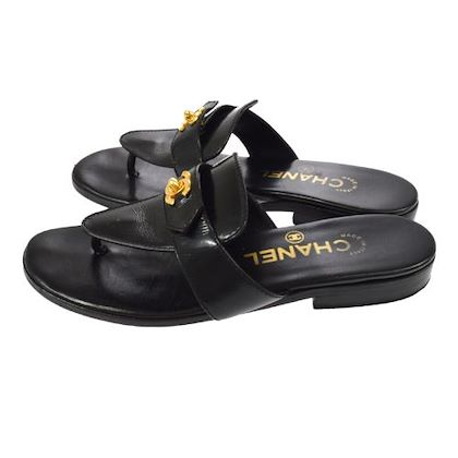 chanel-cc-turnlock-motif-shoes-sandals-black-2